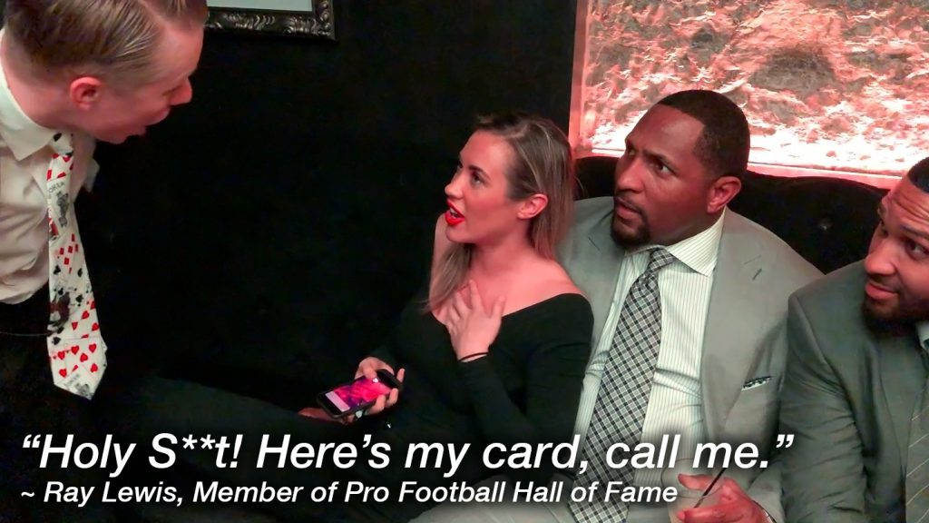 """Holy S**t! Here's my card, call me."" ~ Ray Lewis, Member of Pro Football Hall of Fame"